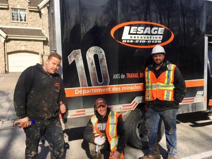 équipe lesage excavation