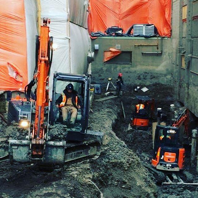 pelleteuse excavation sous oeuvre