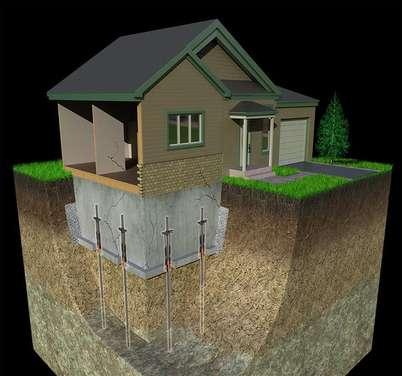 pieux de fondations maintien de la maison