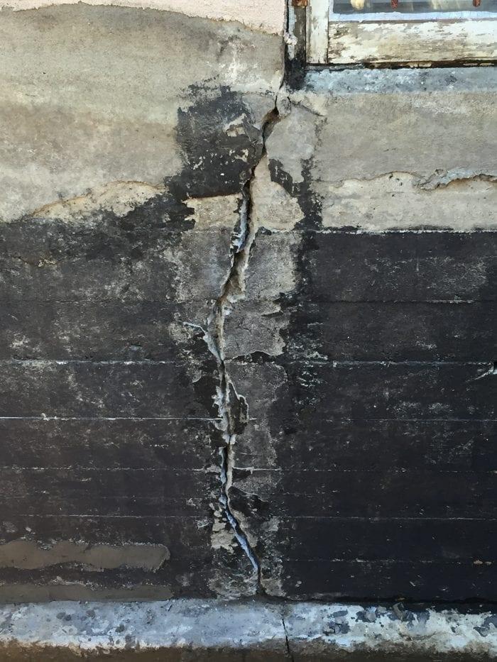 Fissures fondation Valleyfield