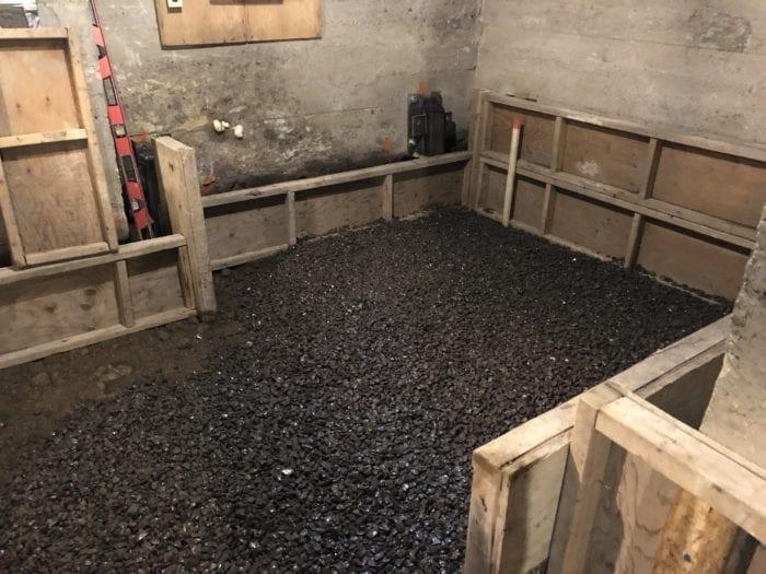 démolition de la dalle au sous-sol