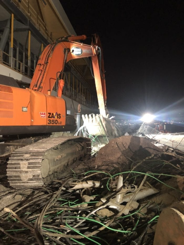 excavation faite de nuit