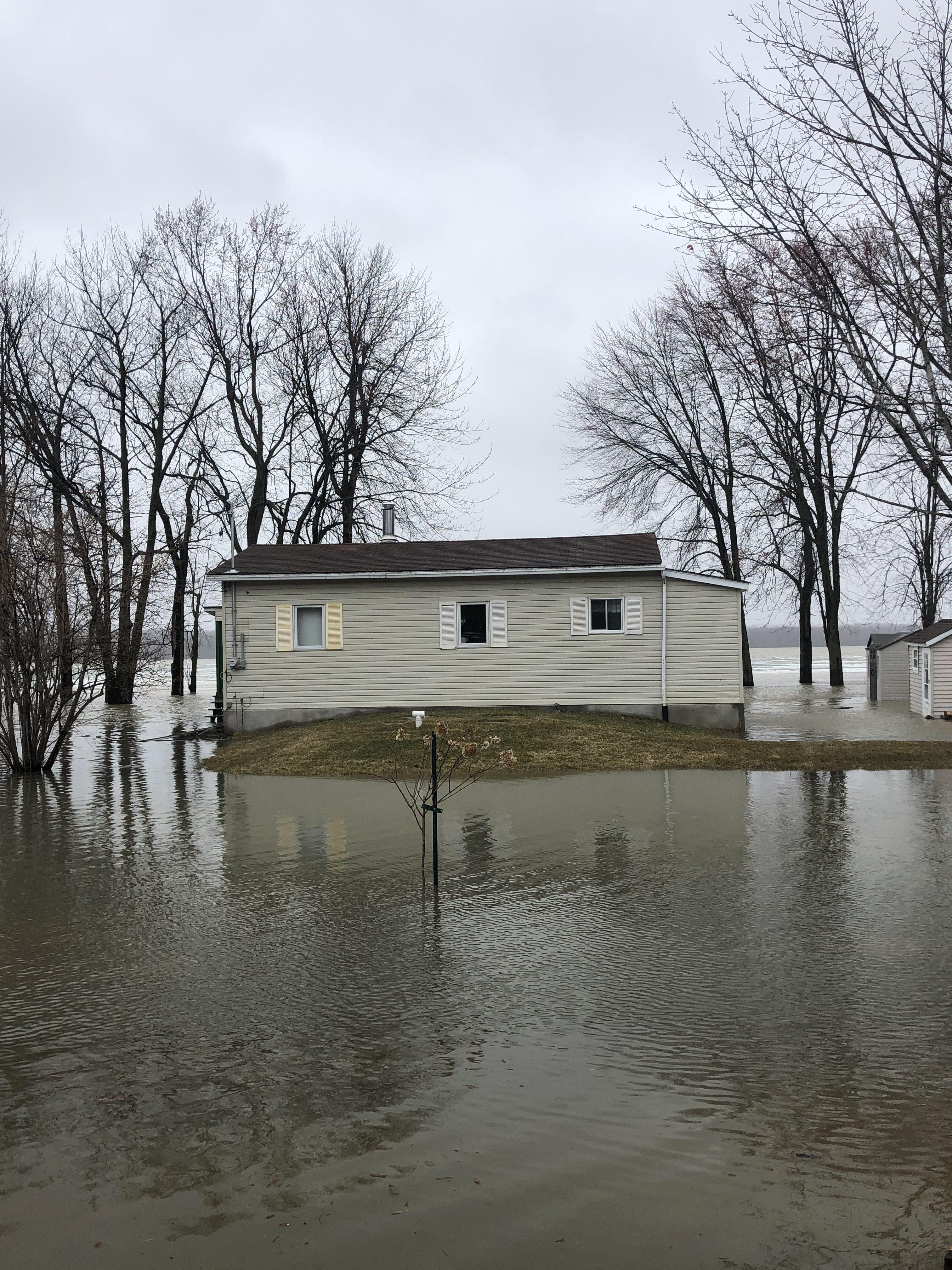 Système septique en zone inondable