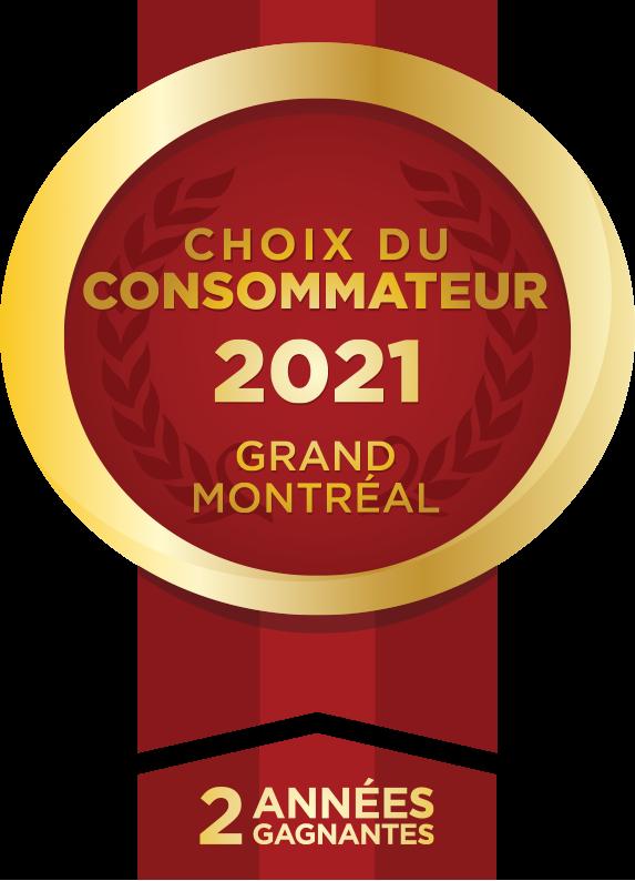 Choix du consommateur 2021 Grand Montréal